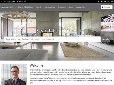 Platinum Realty website design one