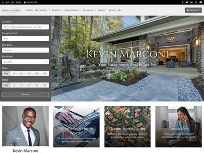 Platinum Realty website design two