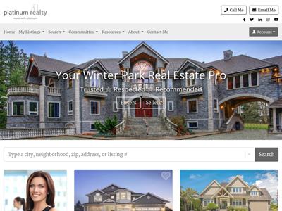 Platinum Realty website design three