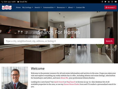 Realty Executives website design one