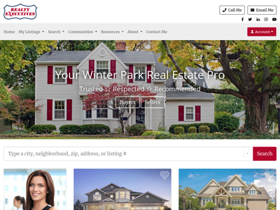 Realty Executives website design three