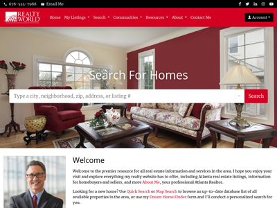 Realty World website design one