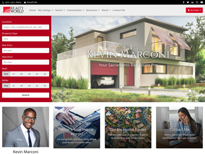 Realty World website design two