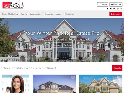 Realty World website design three