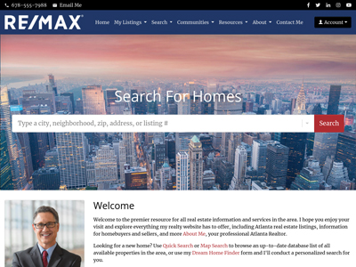 RE/MAX website design one