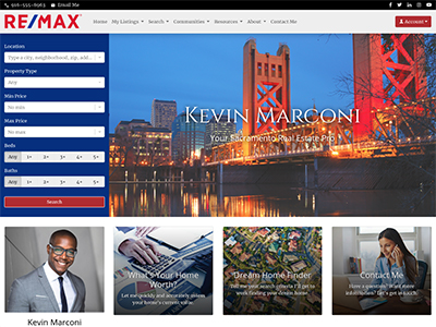 RE/MAX website design two