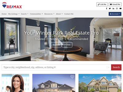 RE/MAX website design three
