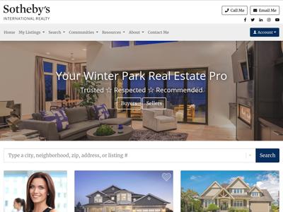Sotheby's website design three
