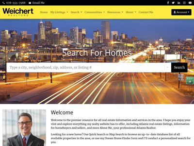 Weichert website design one