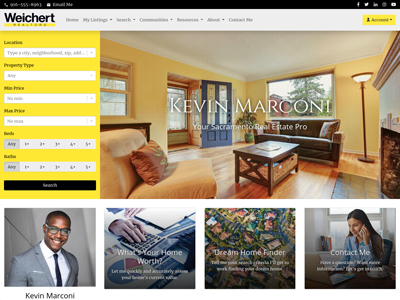 Weichert website design two
