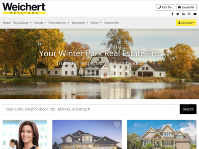 Weichert website design three