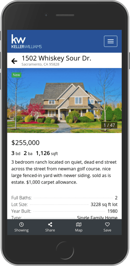 real estate IDX on iPhone