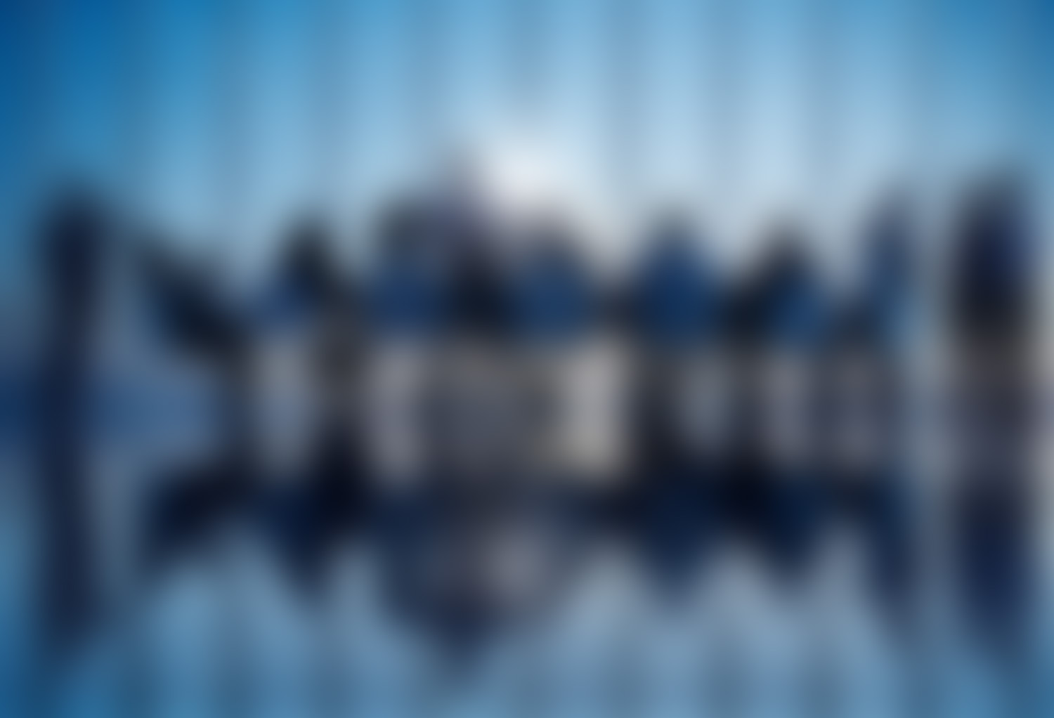 blurred office meeting background