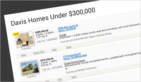 iHOUSEweb Elite Website with Saved Search Pages