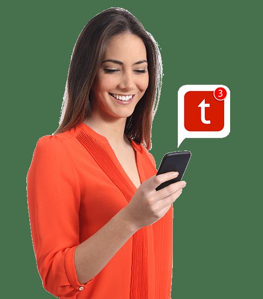 woman using turboleads app