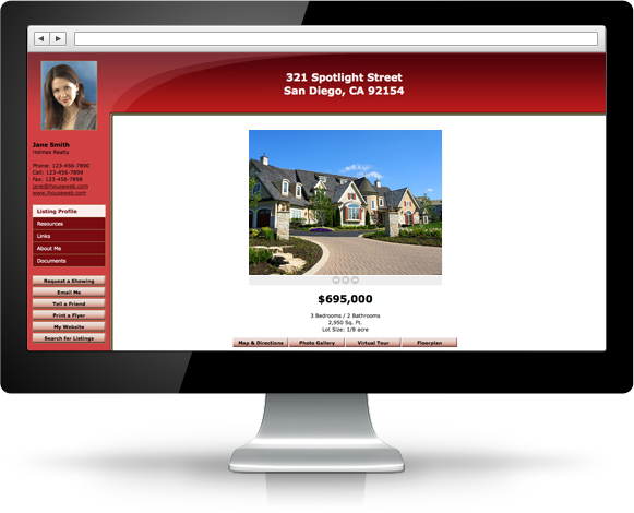 Beautiful iHOUSEweb Spotlight Single Property Website Design.