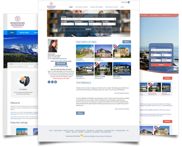 Beautiful iHOUSEweb Elite Website Design.