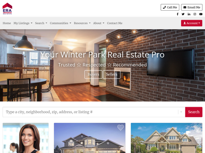 ERA Real Estate agent website