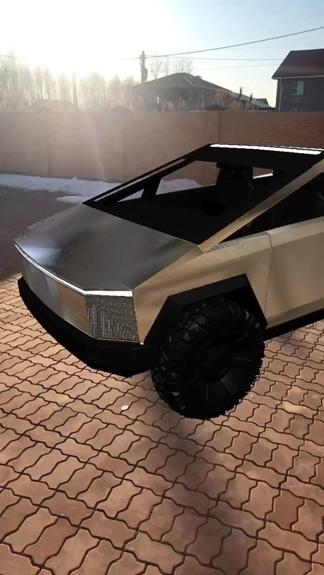 Instagram filter Tesla CyberTruck
