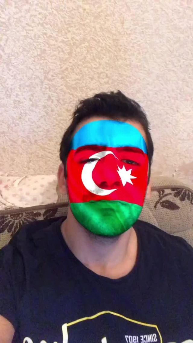 akorecebov Instagram filter Azerbaijan Flag