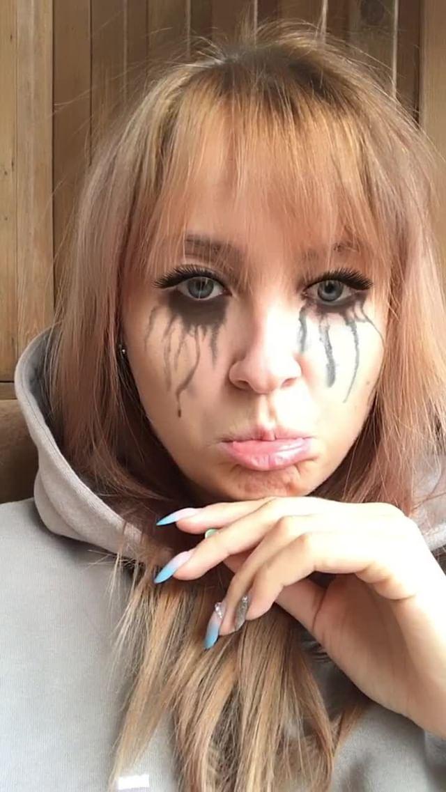 Instagram filter Crying mascara