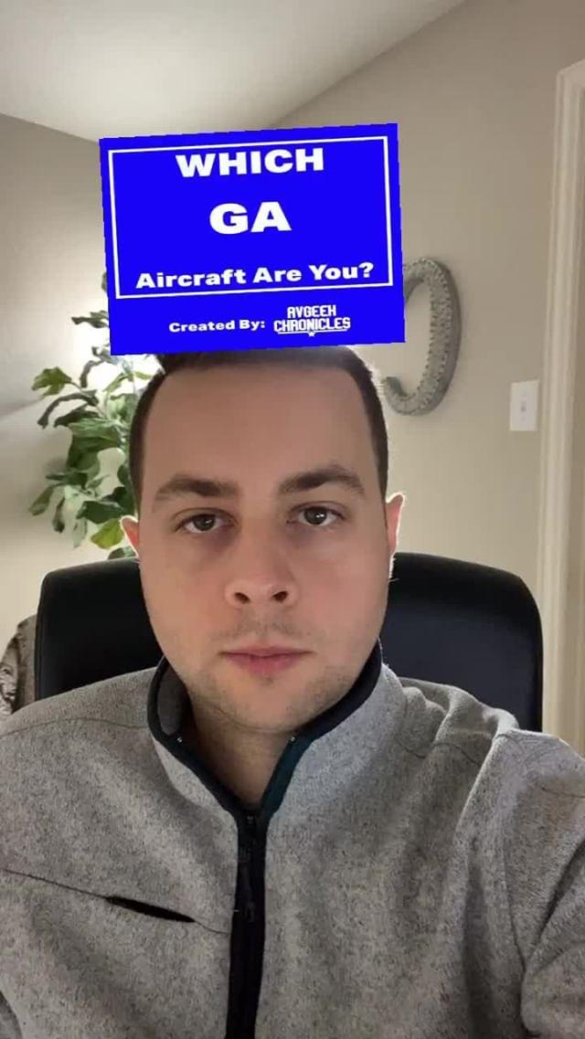 avgeekchronicles Instagram filter You're a GA Aircraft