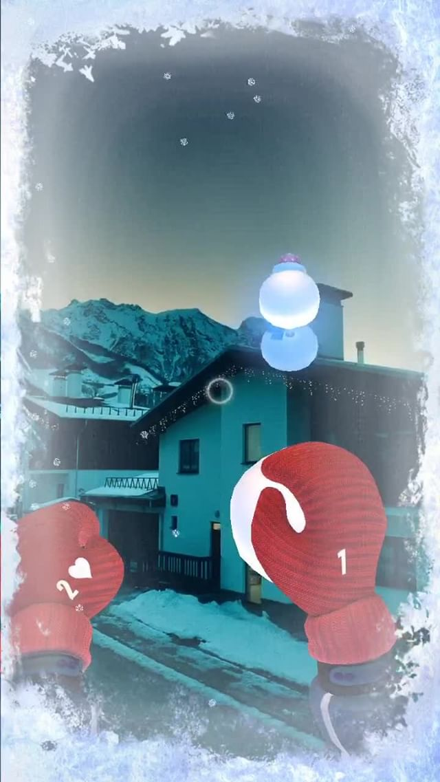 Instagram filter Snowballs AR Game