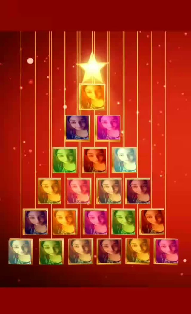 Instagram filter Christmas tree