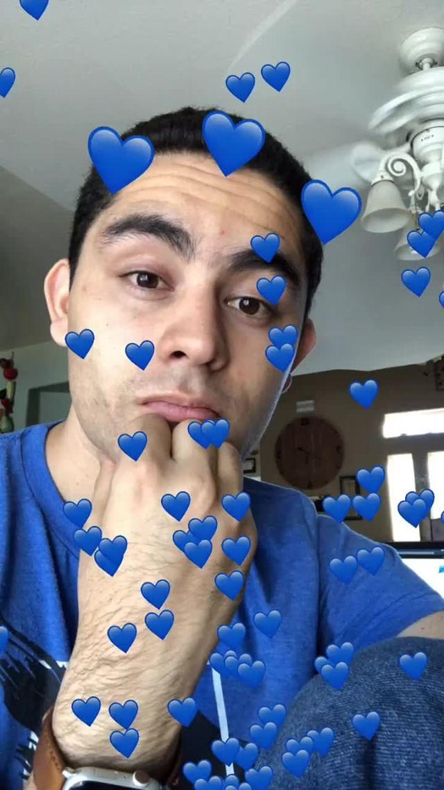 Instagram filter Blue Hearts