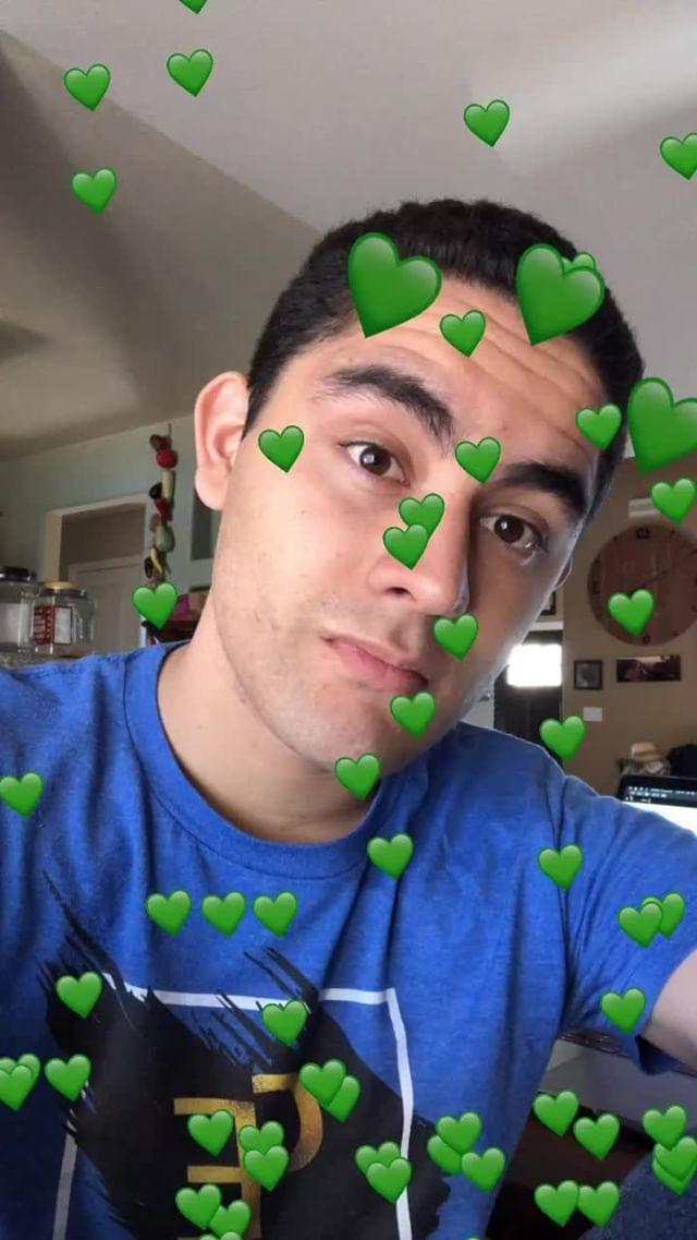 Instagram filter Green Hearts