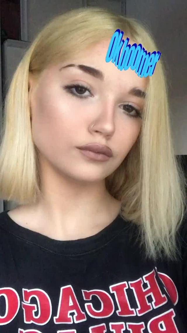 Instagram filter Ok boomer