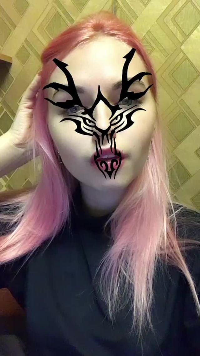 mikhalinakris Instagram filter Dragon face