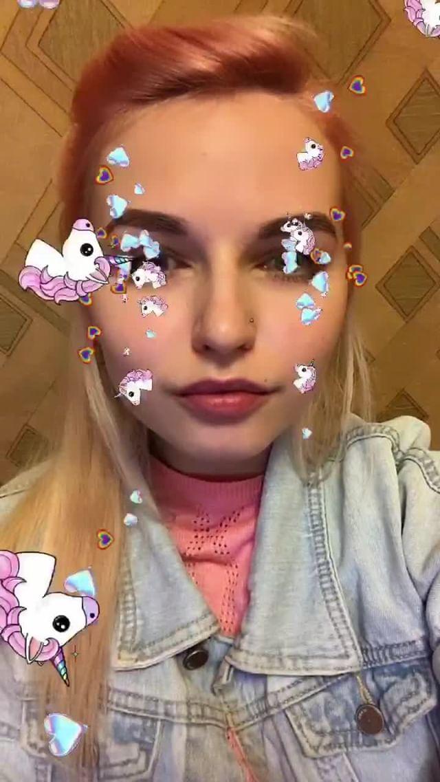mikhalinakris Instagram filter  Unicorn