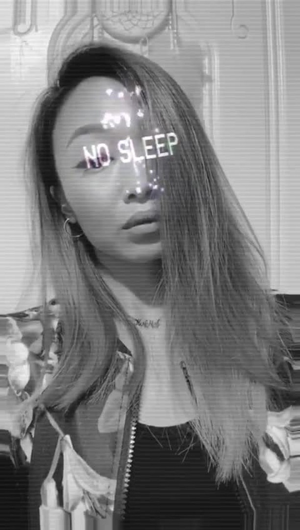 Instagram filter NO SLEEP