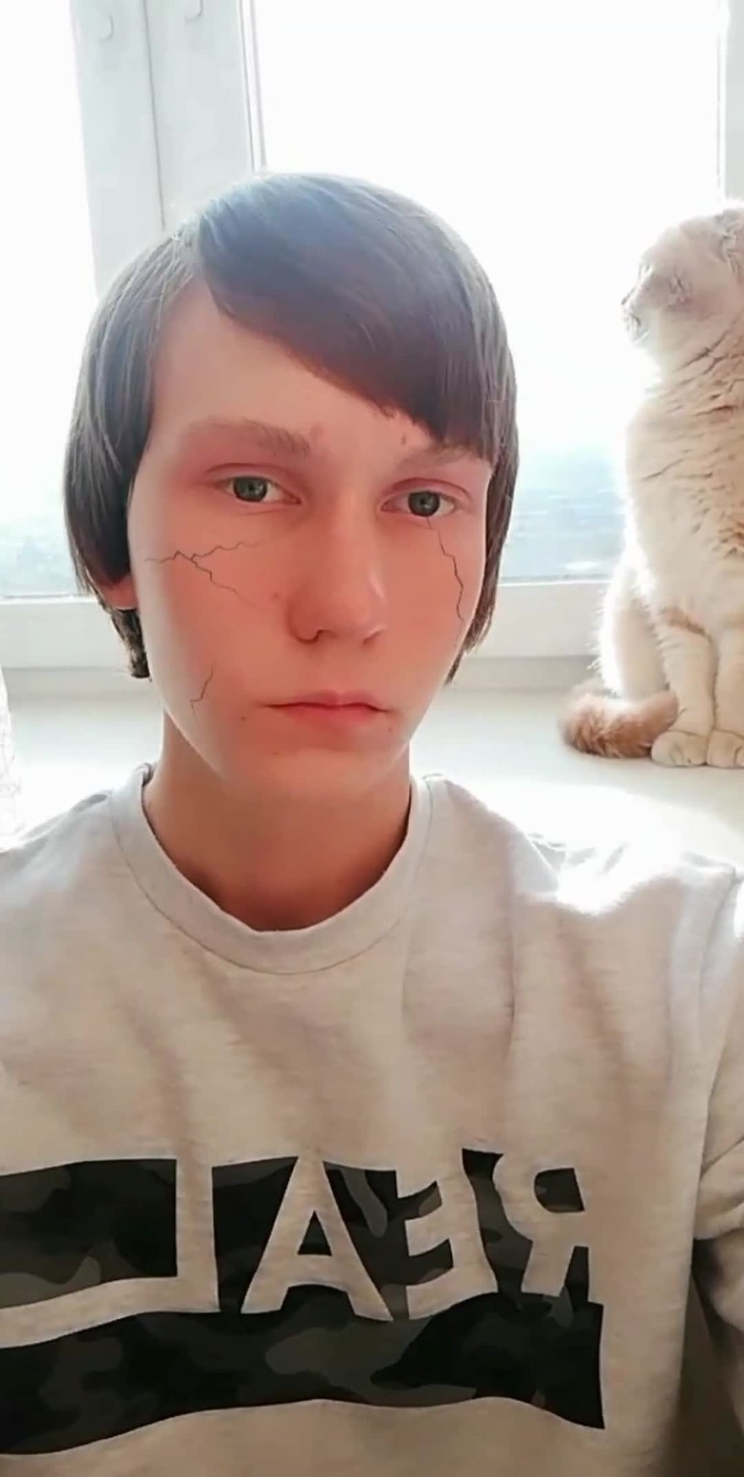 ryleevigor Instagram filter Cracked face