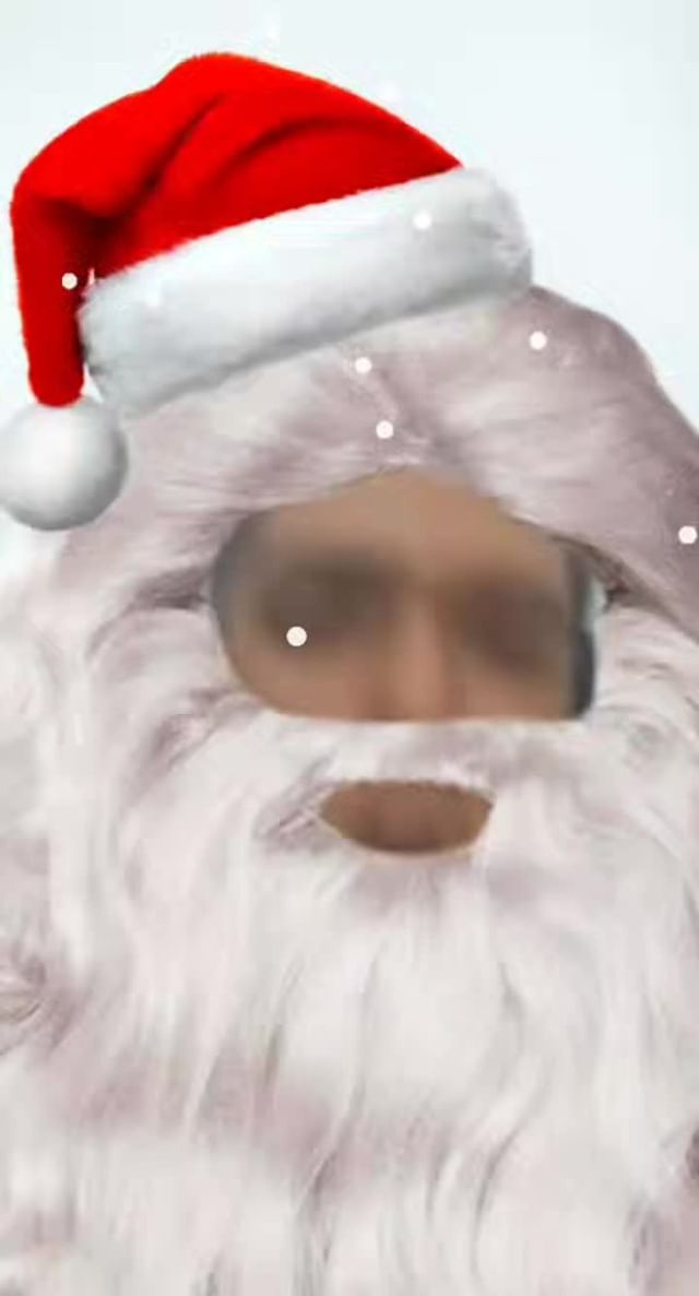 Instagram filter Santa Claus