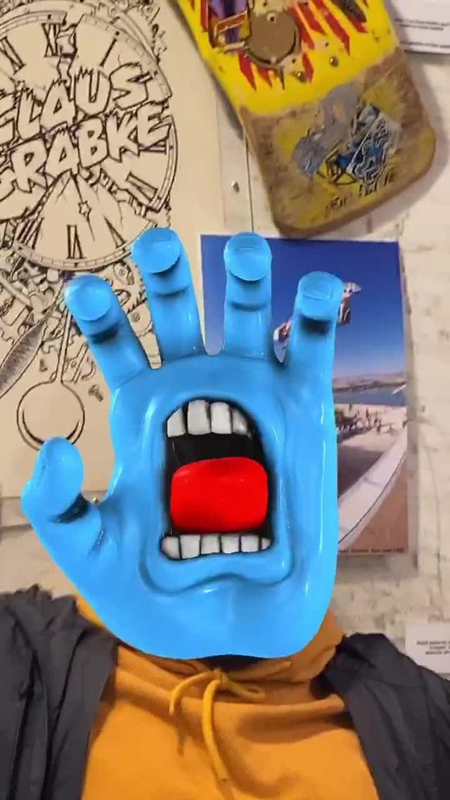 santacruzskateboards Instagram filter Screaming Hand