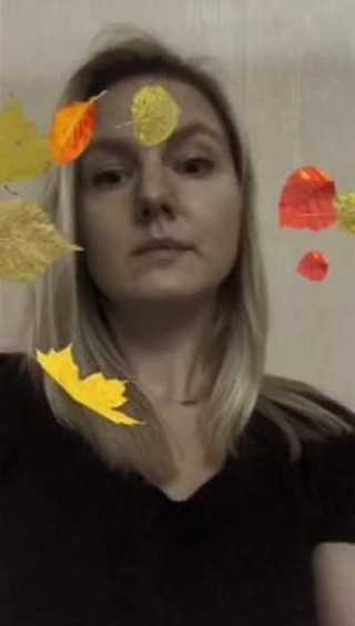 Instagram filter Autumn leaves