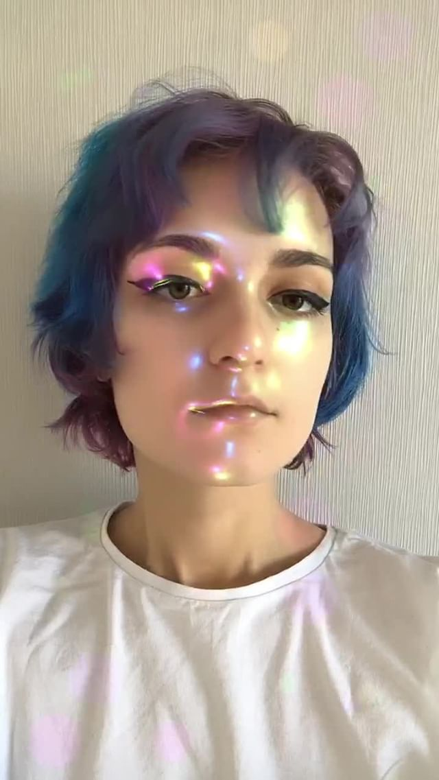 caffeinatedbynoon Instagram filter Holographic Hues