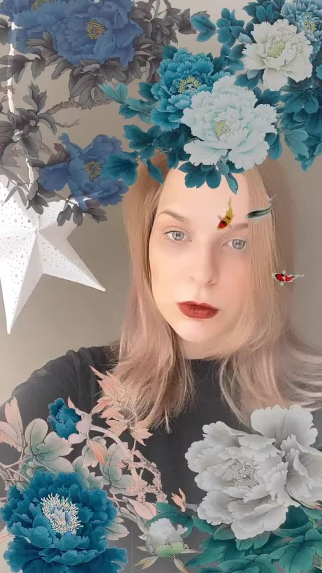 Instagram filter Winter Flowers