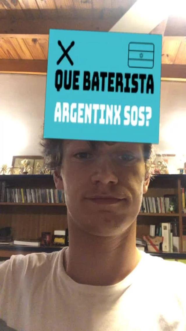 Instagram filter Baterista Argentinx