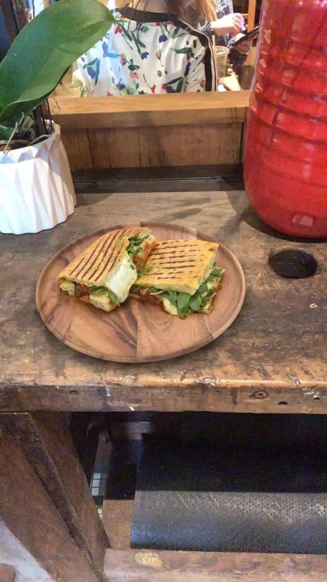 Instagram filter Caprese Sandwich