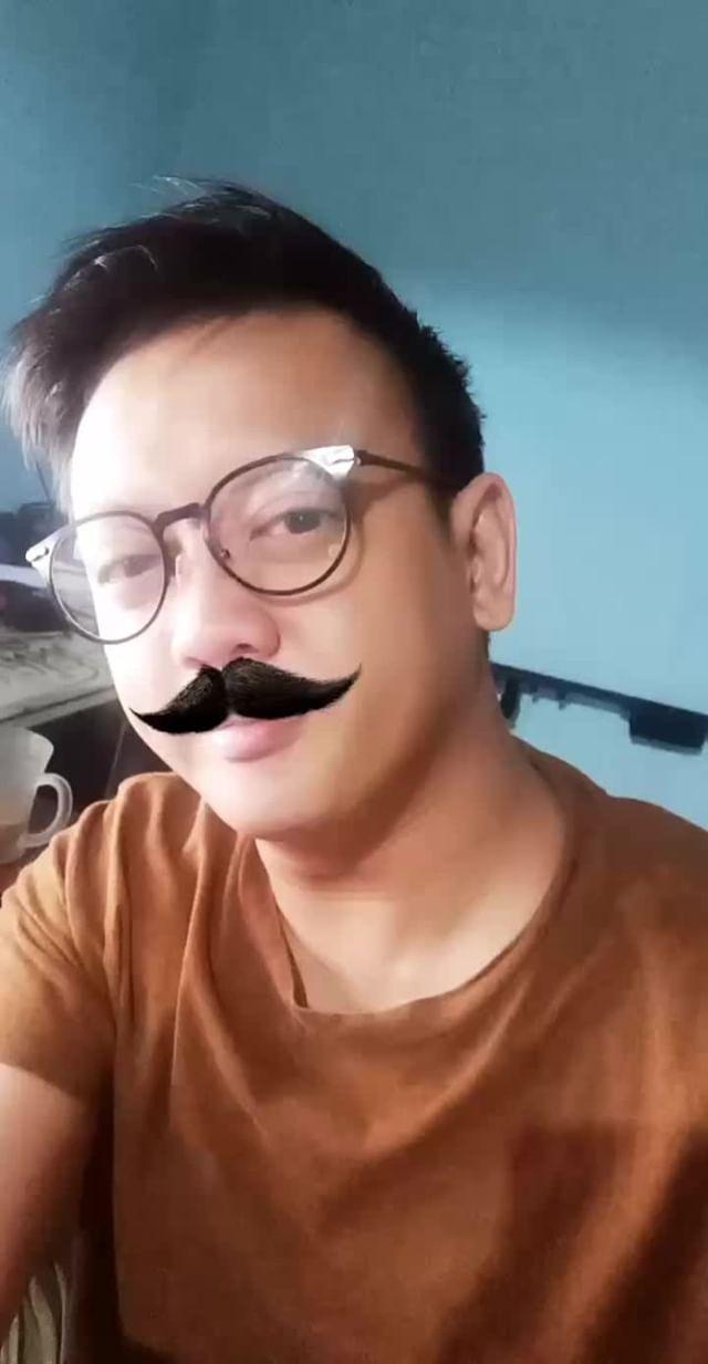 Instagram filter moustache