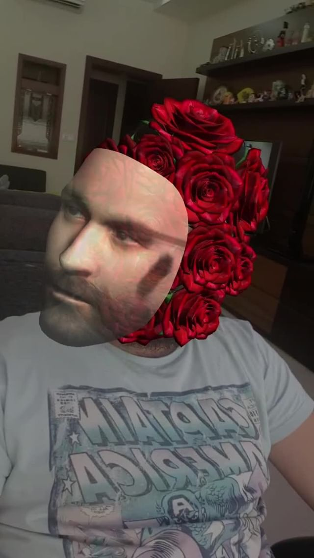 Instagram filter ROSE HEAD