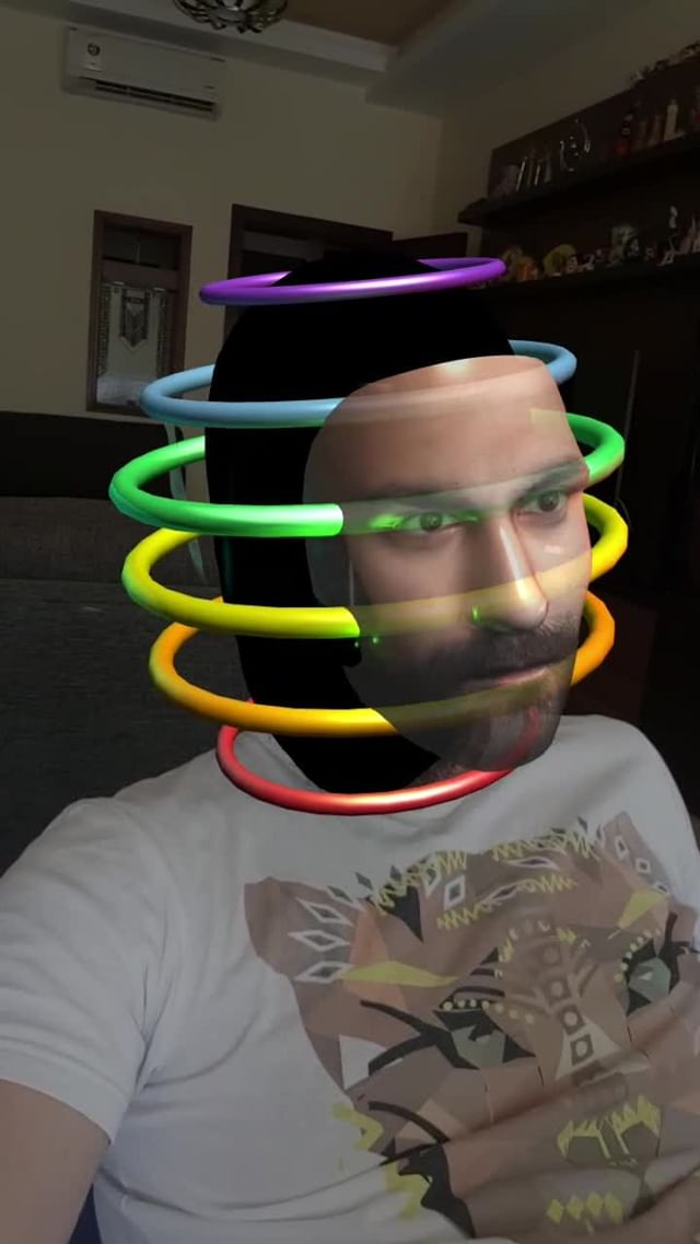 Instagram filter RAINBOW HEAD
