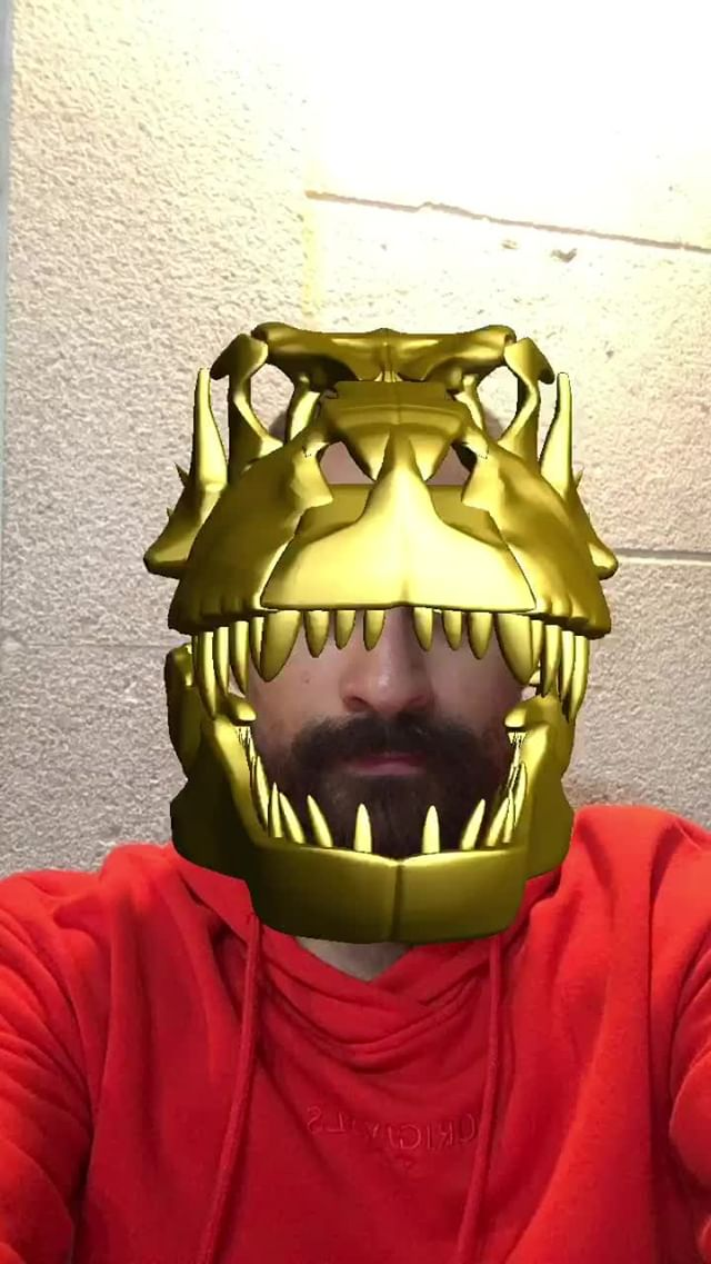 Instagram filter T-REX GOLD