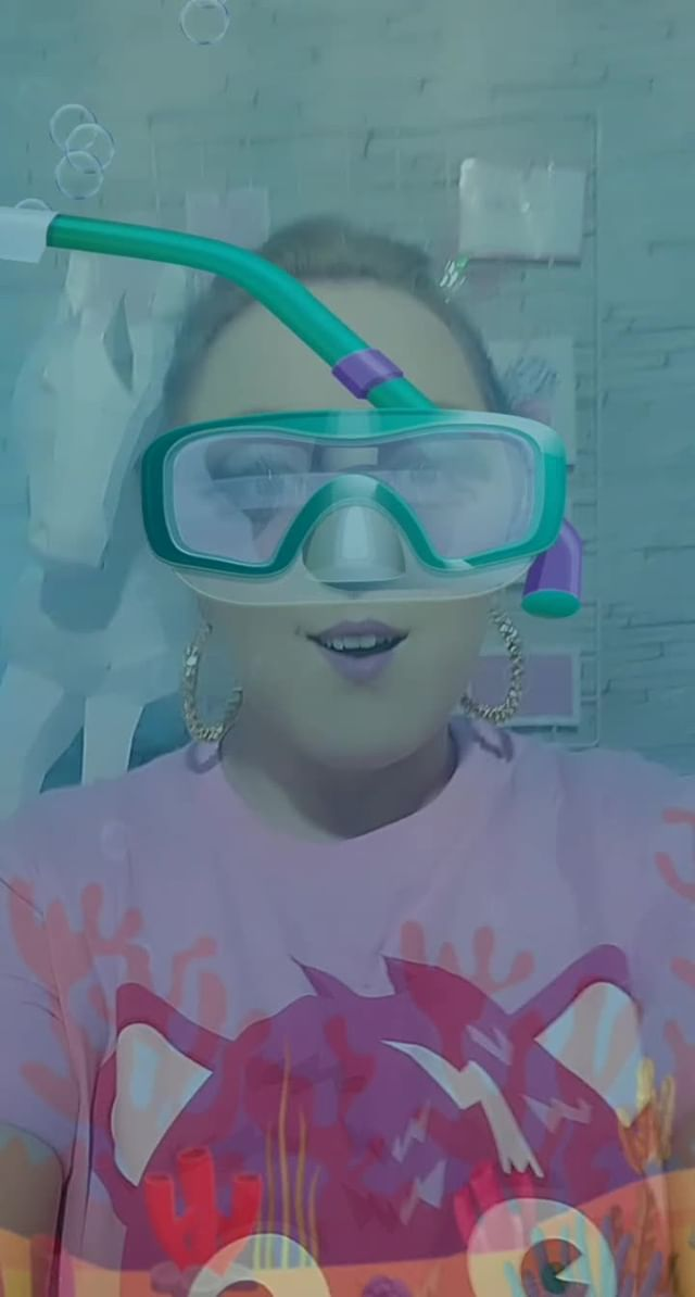 Instagram filter oculos de mergulho