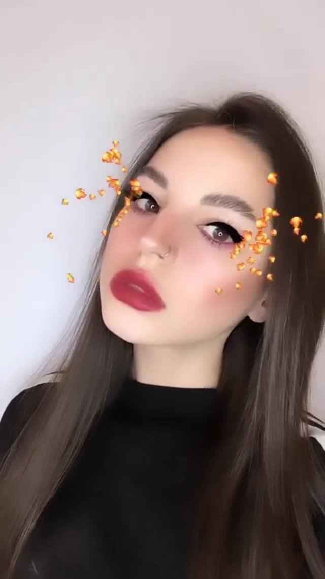 Instagram filter Fire eyes
