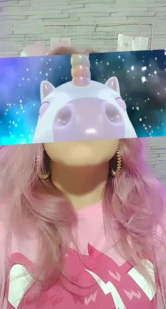 Instagram filter Unicórnio Galáxia