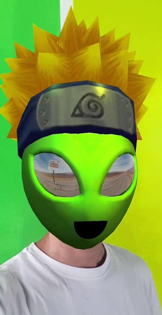 Instagram filter Alien Meme